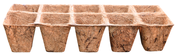 Square Coconut Coir Tray Packs